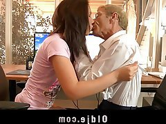 Brunette Old and Young Teen