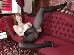 Big Boobs British Masturbation Redhead Stockings
