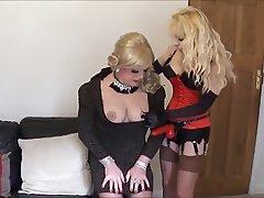 BDSM Femdom Stockings Strapon