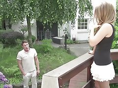 German Old and Young Outdoor Skinny Teen