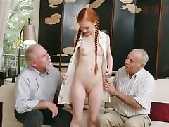 Mature Old and Young Threesome