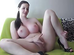 Big Boobs Brunette Masturbation MILF Webcam