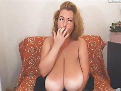 MILF Saggy Tits Webcam