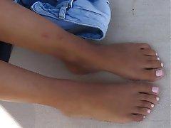 Brunette Foot Fetish Footjob Teen