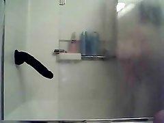 Amateur BBW Masturbation Shower Webcam