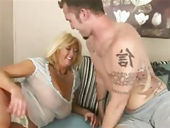 Big Boobs Blonde Blowjob Cumshot Old and Young