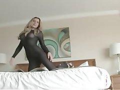 Amateur Big Boobs Blonde Lingerie Stockings