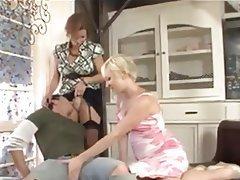 BDSM Brunette Femdom Stockings Strapon