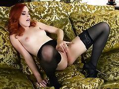 Babe Casting Cumshot Panties Stockings