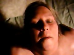 BBW Blonde Cumshot Old and Young POV
