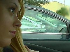 Amateur Babe Blonde Blowjob Car