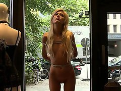 Blonde Public Teen Skinny