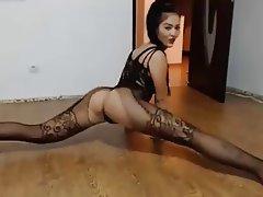 Amateur Brunette Lingerie Stockings Webcam
