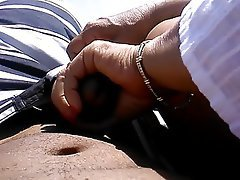 Amateur Beach Handjob Old and Young
